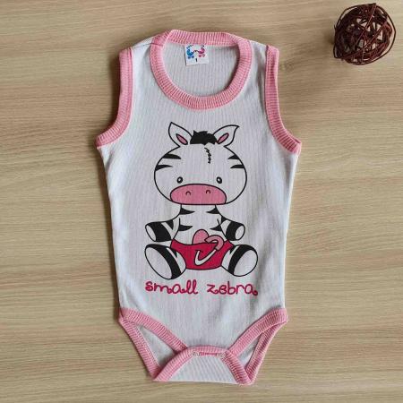 Body bebelusi maiou zebra roz bumbac 0-24 luni [0]
