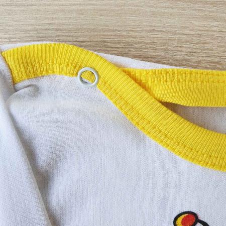 Body bebelusi maneca lunga albina bumbac 0-24 luni1
