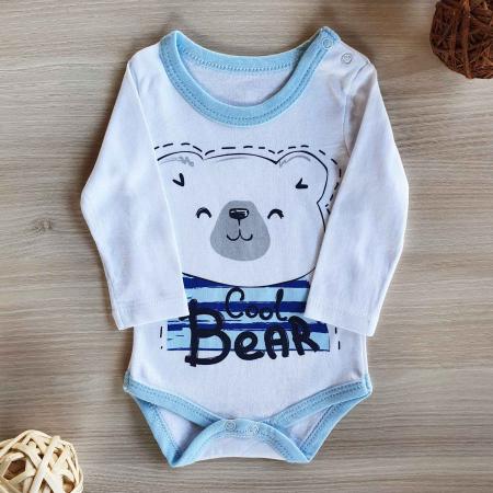Body bebelusi maneca lunga cool bear bumbac 0-12 luni [0]
