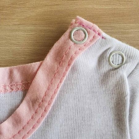 Body bebelusi maneca lunga iepuras roz bumbac 0-12 luni [1]