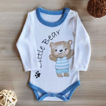 Body bebelusi maneca lunga little bear bumbac 0-12 luni [0]