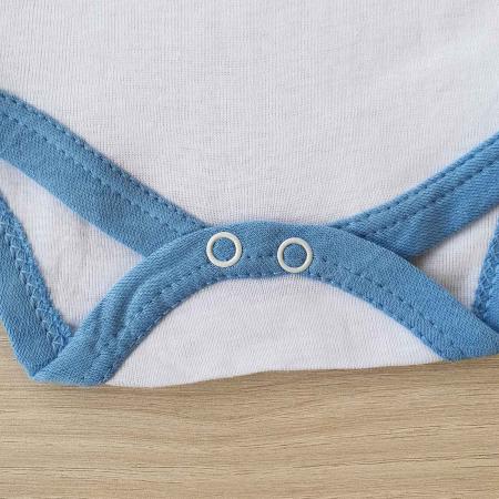 Body bebelusi maneca lunga steluta albastra bumbac 0-12 luni2