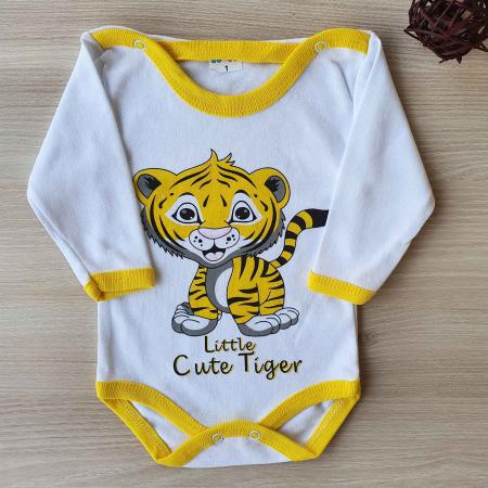 Body bebelusi maneca lunga tigru bumbac 0-24 luni [0]