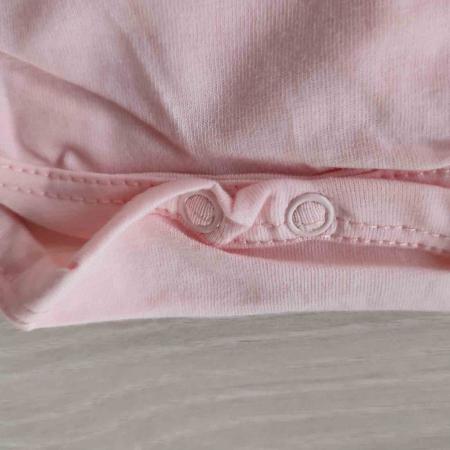 Body bebelusi maneca scurta cu tiul roz balerina bumbac 0-9 luni [2]