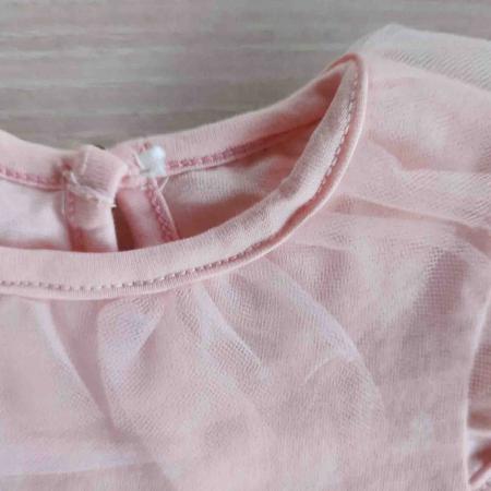 Body bebelusi maneca scurta cu tiul roz princess bumbac 0-9 luni [2]