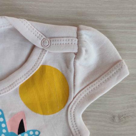 Body bebelusi maneca scurta pisicuta roz bumbac 0-12 luni [1]