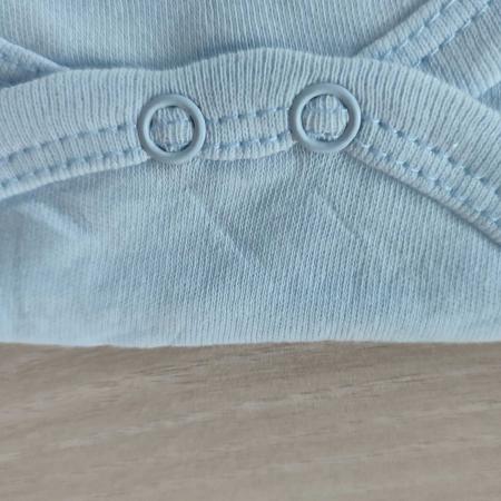 Body bebelusi maneca scurta veverita bleu bumbac 0-12 luni [2]
