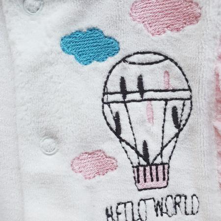 Salopeta bebe fetițe roz pal cu balon cu aer cald1