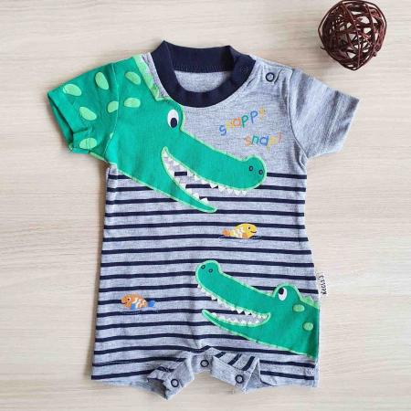 Salopeta bebelusi crocodili bumbac 0-9 luni