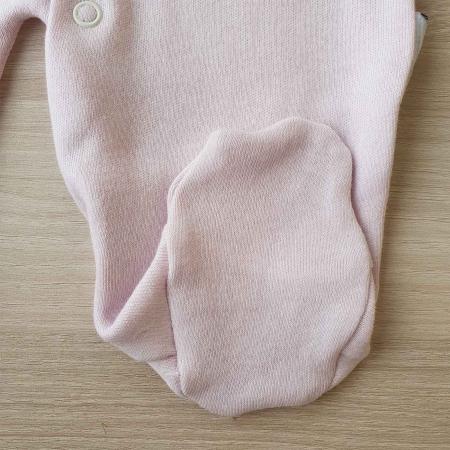 Salopeta bebelusi maneca lunga si caciuita magarus roz bumbac 0-9 luni2