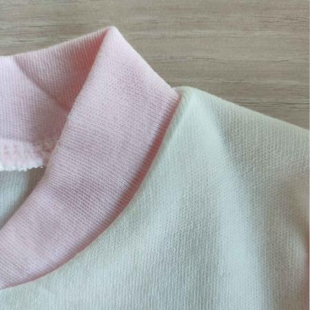 Salopeta bebelusi maneca lunga ursulet cu floare roz bumbac 0-3 luni [1]
