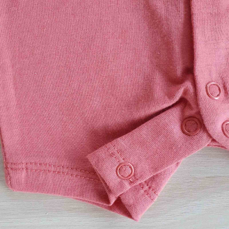 Salopeta bebelusi maneca scurta cu papion pasarele rosu bumbac 0-9 luni [2]