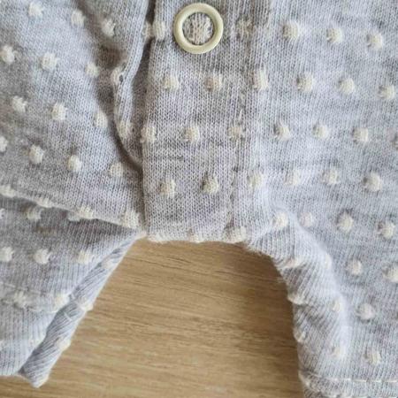 Salopeta bebelusi maneca scurta i love mama gri bumbac 0-9 luni [2]