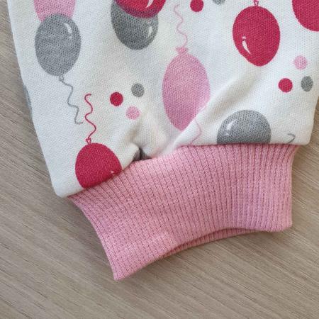 Set bebelusi body, pantaloni si caciulita iepuras roz bumbac 0-9 luni [2]