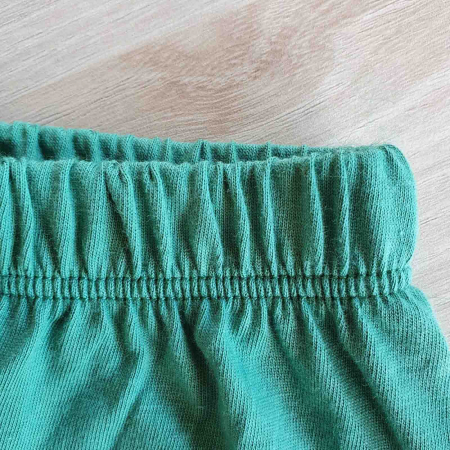 Set bebelusi tricou pantaloni scurti si babetica puisor verde bumbac 3-12 luni [2]