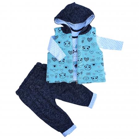 Compleu fetita cu vesta panda0