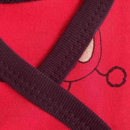 Set nou nascut 5 piese buburuze bumbac rosu cu negru [1]