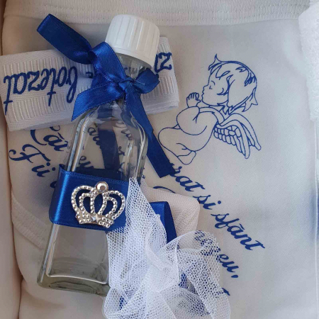 Trusou botez alb cu albastru ingeras [1]