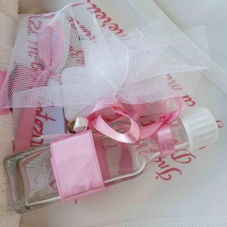 Trusou botez alb cu roz ingeras [2]