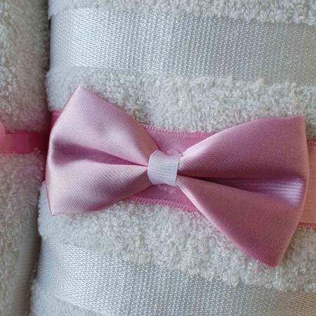 Trusou botez alb cu roz ingeras [1]