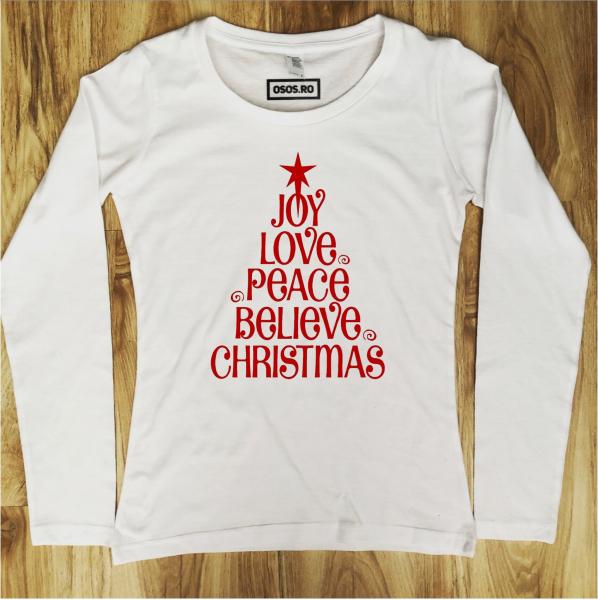 Bluza dama - Love Peace Christmas [0]