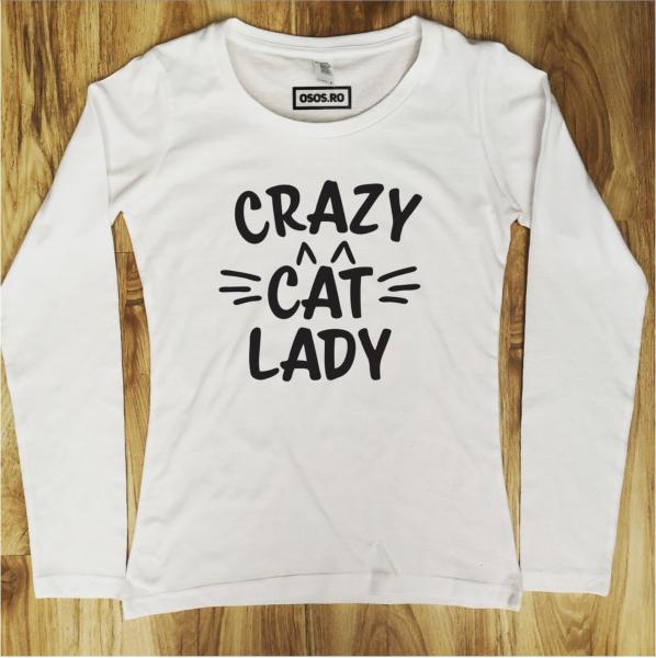 Bluza dama - Crazi cat lady 0