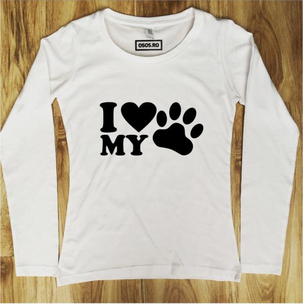 Bluza dama - I love my dog! [0]
