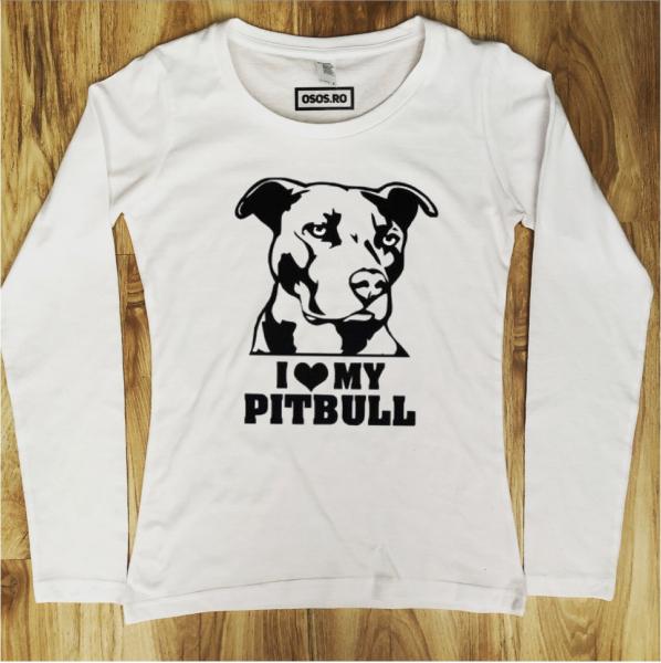 Bluza dama - I love my Pitbull [0]