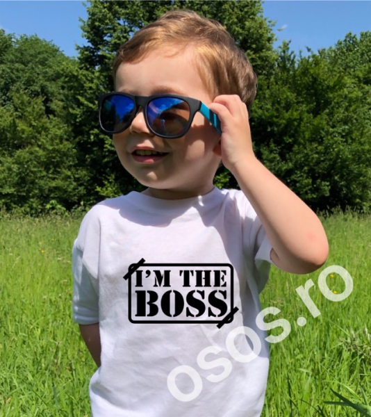 Tricou copii - I'm the boss 0