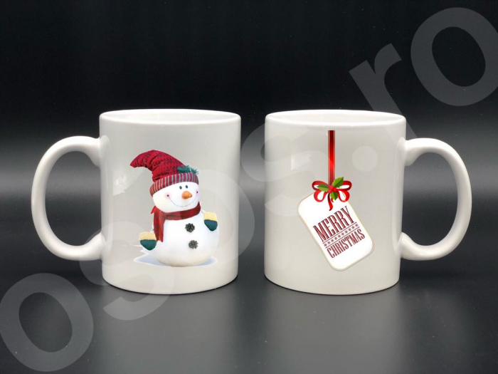 Set căni - Merry Christmas & snowman 0