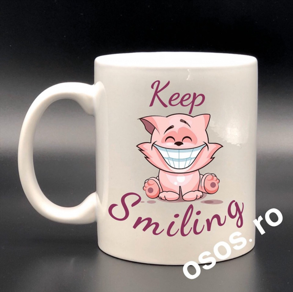 Cana personalizata - Keep smiling 0