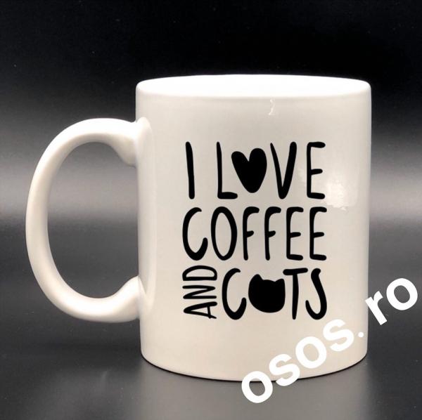 Cana personalizata - I love coffee and cats [0]