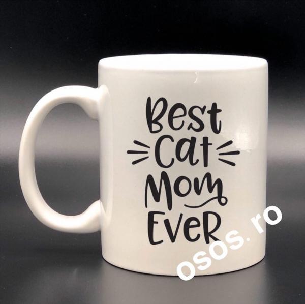 Cana personalizata - Best cat mom ever [0]