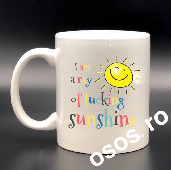 Cana personalizata - I m a ray of fucking sunshine 0