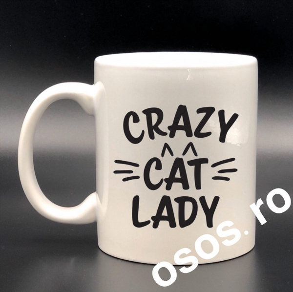 Cana personalizata - Crazy cat lady 0