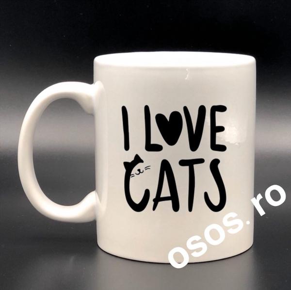 Cana personalizata - I love cats [0]