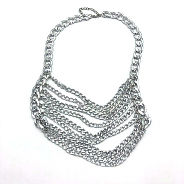Colier metal lung argintiu [0]