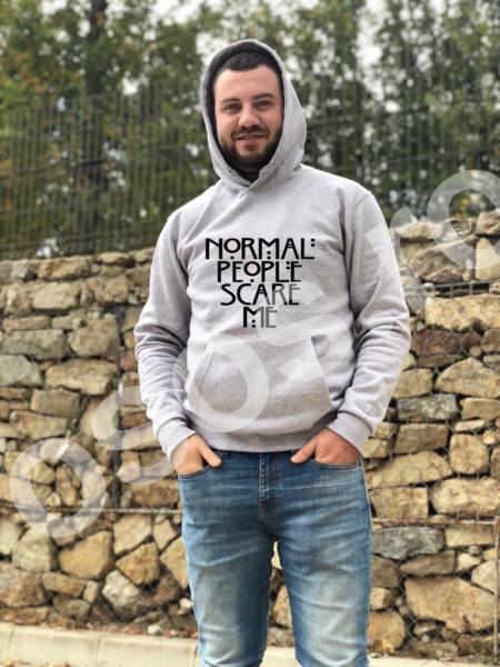 Hanorac bărbaţi - Normal people scare me 0