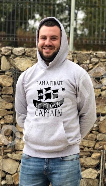 Hanorac bărbaţi - I'm my own captain 0