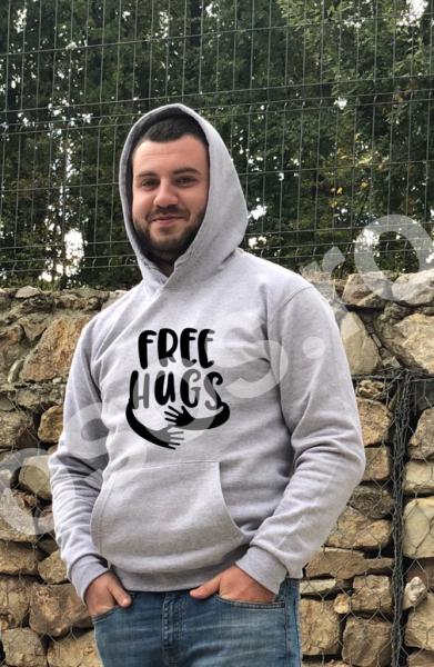 Hanorac bărbaţi - Free hugs 0