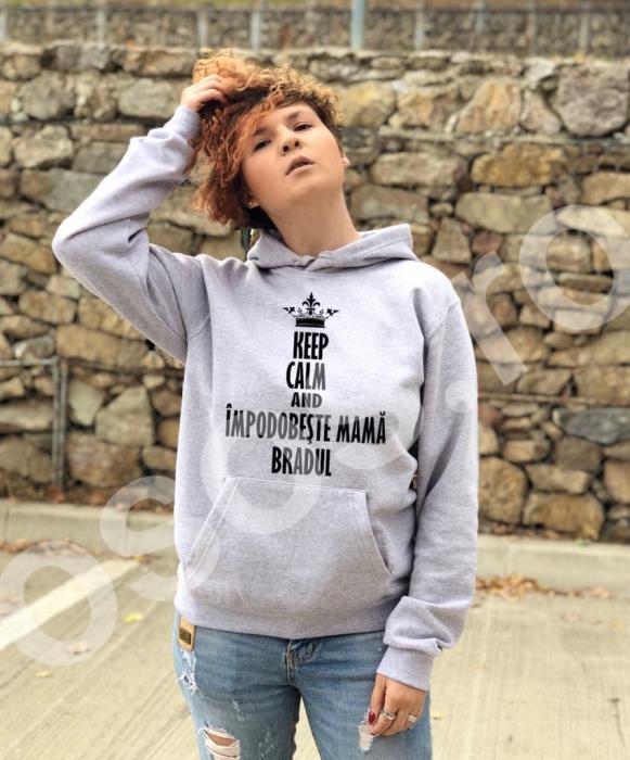 Hanorac damă - Keep calm and împodobeşte mamă bradul 0