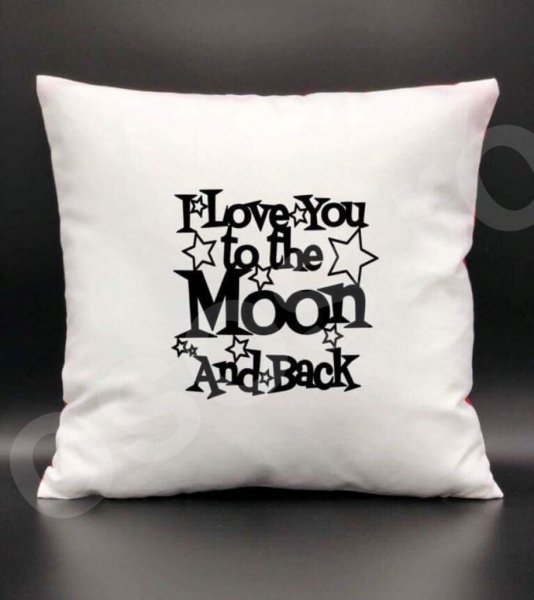 Pernă - I love you to the moon and back 0