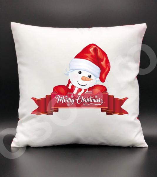Pernă - Merry Christmas & snowman 0