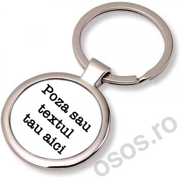 Personalizeaza Breloc Metalic Rotund 0