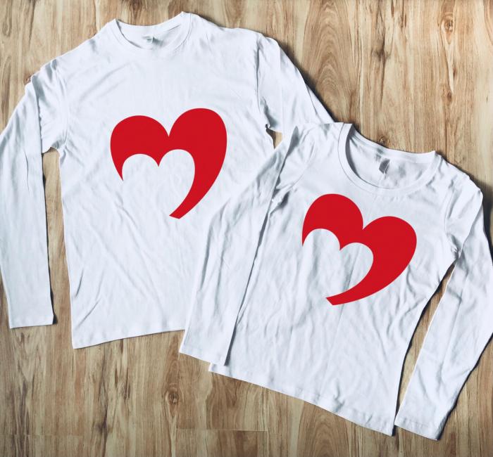 Set Bluze Cuplu - Heart [0]