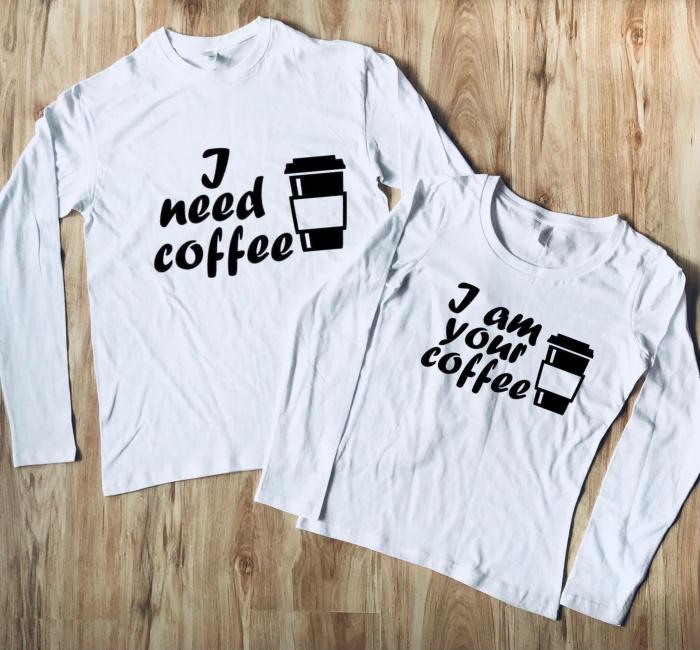 Set Bluze Cuplu - I need coffee. I am your coffee [0]