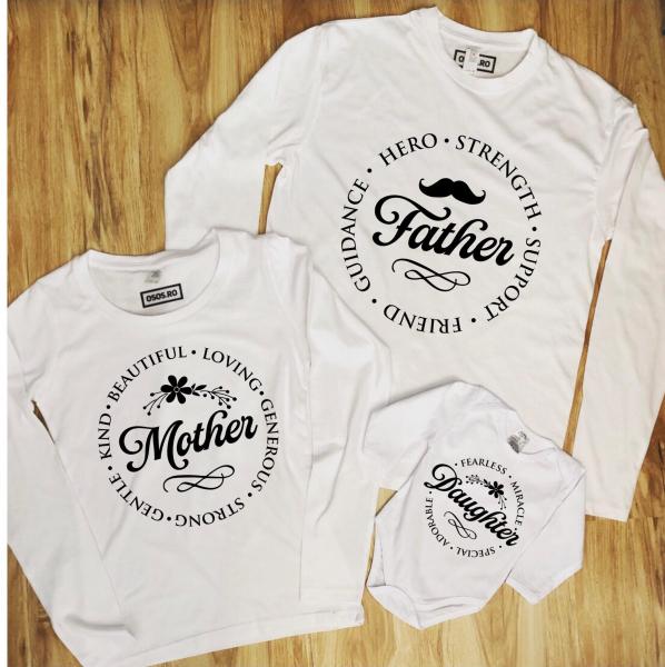 Set Bluze Familie - Mother Father Daughter 0
