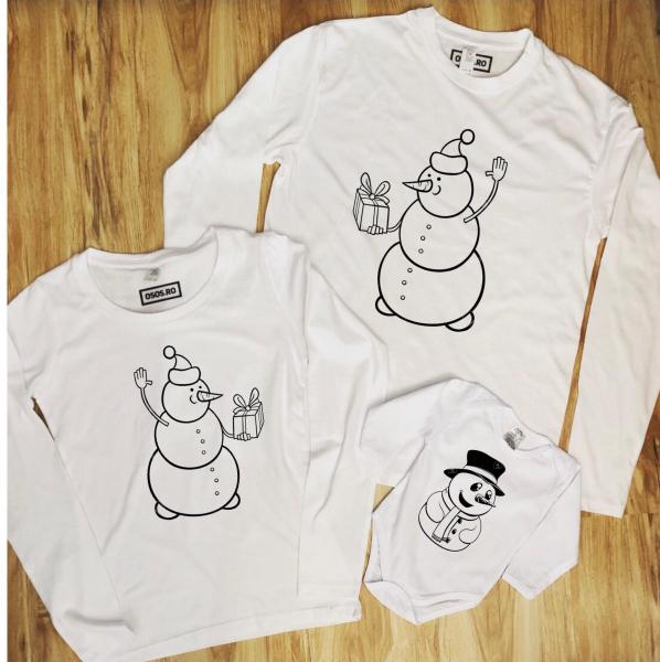 Set Bluze Familie - Snowman 0