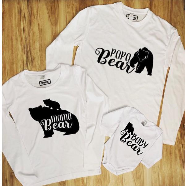 Set Bluze Familie - Mama bear. Papa bear. Baby bear 0