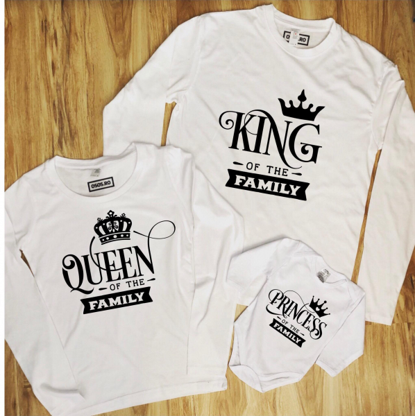 Set Bluze Familie - King Queen Princess 0